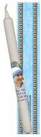 Candela S.Madre Teresa di Calcutta con cartoncino e preghiera