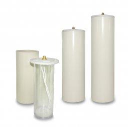 Copertina di 'Candela a cera liquida con cartuccia diam. 8 cm per candela alta 30 cm'