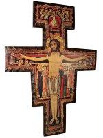 Croce di San Damiano in legno - dimensioni 100x70 cm