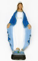 Statua Madonna Miracolosa in materiale infrangibile cm 80  (dipinta a mano)