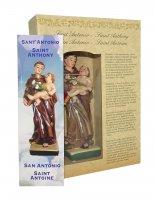Immagine di 'Statua di Sant'Antonio da 12 cm in confezione regalo con segnalibro in IT/EN/ES/FR'