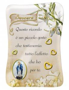 Copertina di 'Calamita Suocera con immagine resinata della Madonna Miracolosa - 8 x 5,5 cm'