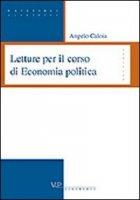 Letture per il corso di economia politica - Caloia Angelo
