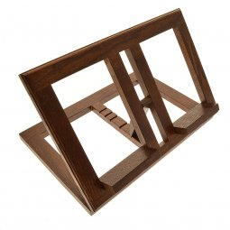 Copertina di 'Leggio in legno scuro stile moderno - dimensioni 21x31 cm'