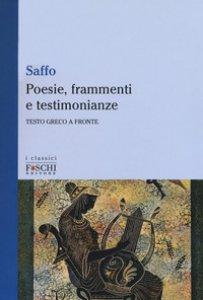 Copertina di 'Poesie, frammenti e testimonianze. Testo greco a fronte'