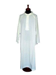 Copertina di 'Camice avorio con manica raglan e finto cappuccio - lunghezza 140 cm'
