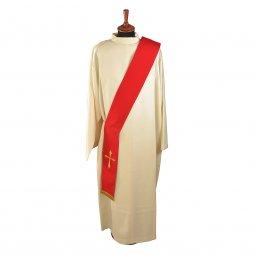 Copertina di 'Stola diaconale rossa con croce stilizzata'