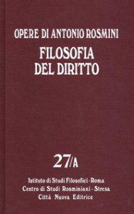 Copertina di 'Filosofia del diritto. 27a'