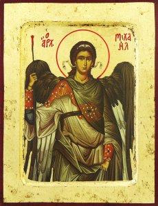 Copertina di 'Icona San Michele Arcangelo Greca in legno - 25,5 x 19 cm'