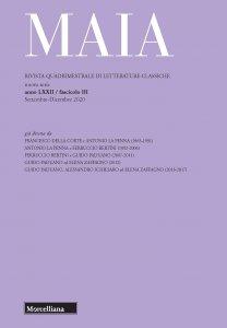 Copertina di 'Maia. Rivista di letterature classiche (2020)'
