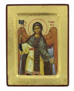 Copertina di 'Icona San Gabriele Arcangelo, produzione greca su legno - 18 x 14 cm'