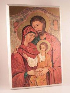 """Copertina di 'Icona in legno """"Sacra Famiglia"""" - dimensioni 19x13 cm'"""