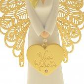 """Immagine di 'Statua in resina bianca angelo """"Felicità"""" - altezza 15 cm'"""