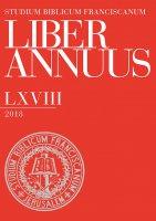 Liber Annuus, LXVIII-2018