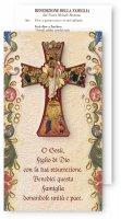 Croce della Settimana Santa con benedizione della famiglia - altezza 12 cm