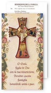Copertina di 'Croce della Settimana Santa con benedizione della famiglia - altezza 12 cm'