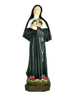 "Statua in resina colorata ""Santa Rita da Cascia"" - altezza 33 cm"