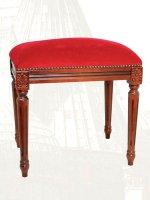 Sgabello singolo con seduta in velluto rosso