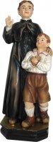 Statua San Giovanni Bosco con Bambino da 12 cm in confezione regalo con immaginetta