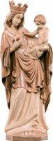 Statua della Madonna di Bressanone in legno di tiglio, 3 toni di marrone, linea da 55 cm, Madonne Gotiche - Demetz Deur