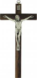 Copertina di 'Crocifisso da parete in legno di noce con Cristo in metallo - 30 cm'