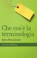Che cos'è la terminologia - Zanola Maria Teresa