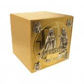 Immagine di 'Tabernacolo in metallo dorato con Ultima Cena e simboli degli Evangelisti - altezza 27 cm'