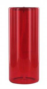 Copertina di 'Vetro rosso con stoppino - Ø 7,5 x 20 cm'