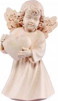Statuina dell'angioletto con cuore, linea da 10 cm, in legno naturale, collezione Angeli Sissi - Demetz Deur