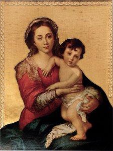 Copertina di 'Tavola Madonna del Murillo stampa su legno - 24 x 17 cm'