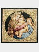 """Arazzo sacro """"Madonna della Seggiola"""" - dimensioni 32x32 cm - Raffaello Sanzio"""