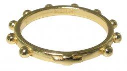Copertina di 'Fedina rosario in argento con bagno in oro giallo mm 14'