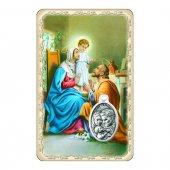 """Card """"Sacra Famiglia"""" con preghiera e medaglia - (10 pezzi)"""