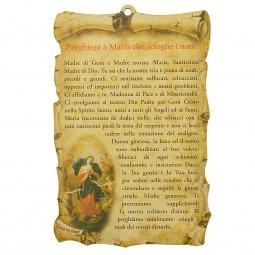 Copertina di 'Tavoletta sagomata Preghiera a Maria che scioglie i nodi'