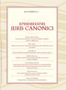 Copertina di 'Ephemerides Iuris canonici (2013)'