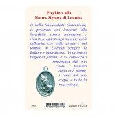 """Immagine di 'Card """"Madonna di Lourdes"""" con preghiera e medaglia - (10 pezzi)'"""