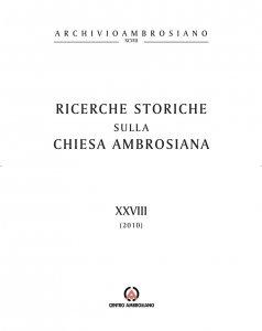 Copertina di 'Ricerche storiche XXVIII'