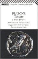 Teeteto o sulla scienza. Testo greco a fronte - Platone