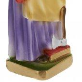 Immagine di 'Statua in gesso madreperlato San Giuseppe Lavoratore dipinta a mano - cm 30'