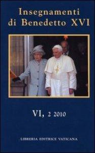 Copertina di 'Insegnamenti di Benedetto XVI vol. VI, 2'
