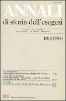 Annali di storia dell'esegesi. Atti del III seminario di studi su Lettura della Bibbia e pensiero filosofico e politico moderno (Forlì, 11-13 giugno 1992)