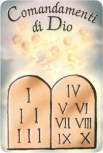 Card 39 i dieci comandamenti 39 in pvc italia bomboniere - Tavole dei dieci comandamenti ...