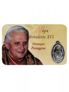 Copertina di 'Card medaglia Benedetto XVI (10 pezzi)'