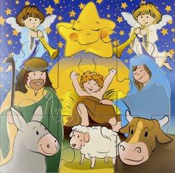 """Copertina di 'Puzzle """"Nove piccoli passi per la tua Novena di Natale"""" - dimensioni 14,5x14,5 cm'"""