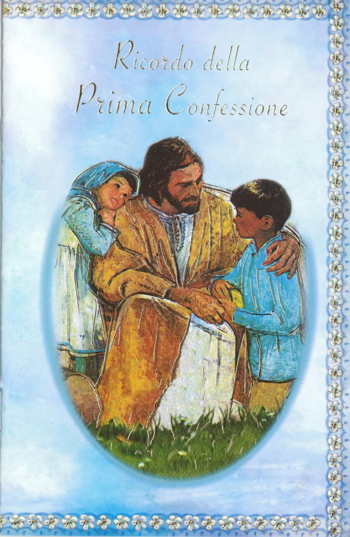 Libretto ricordo della prima confessione italia for Immagine pergamena da colorare