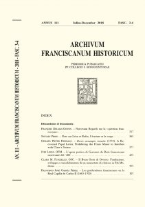Copertina di 'Recto assumpto tramite: A Recovered Papal Letter, Prohibiting the Friars Minor to Interfere with Clares Sister (377-423)'