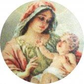 Immagine di 'Medaglia ovale con profilo in argento 925 - Madonna con Bambino'