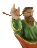 Immagine di 'Statua San Paolo con serpente, in gesso dipinta a mano - 25 cm'