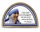 """Tavola ad arco """"Santa Madre Teresa di Calcutta"""" con scatola"""