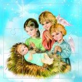 """Mini puzzle """"Gesù bambino e gli angeli"""""""